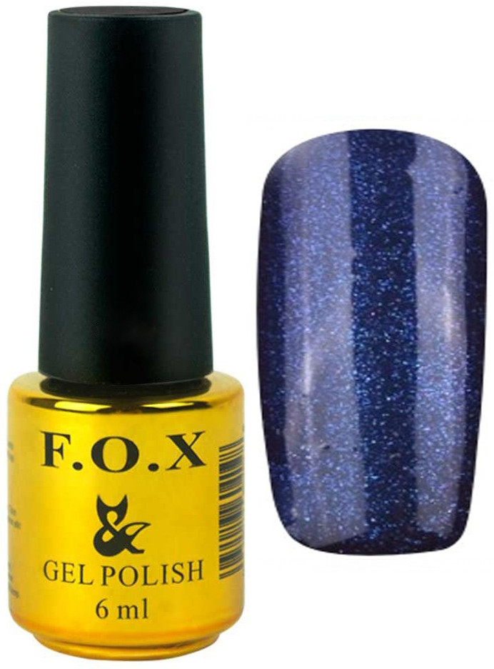 Гель-лак для ногтей FOX №134 Синий глиттер 6 мл