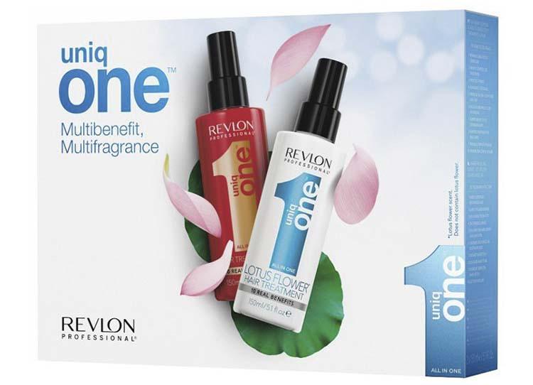 Набор спрей-кондиционер 10 в 1 + спрей аромат цветка лотоса Revlon Professional Uniq One All in One 150 мл