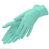 Перчатки нитрил салатовые NITRYLEX (3,5 г) 100 шт XS, фото 4