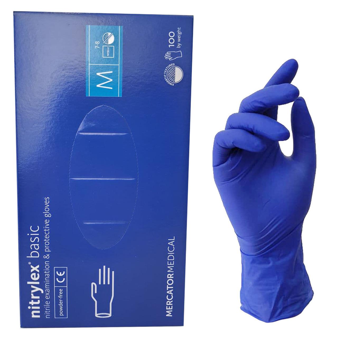 Перчатки нитриловые 100 шт M
