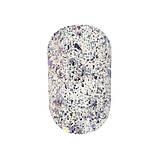 """Гель-лак для ногтей Naomi """"Self Illuminated"""" №34 Плотный серебро с блестками, слюдой, фольгой-стружкой и, фото 2"""