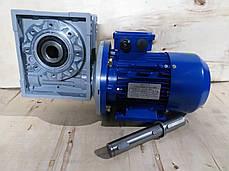 Червячный мотор-редуктор NMRV150 1:10 с эл.двигателем 15 кВт 1500 об/мин, фото 3