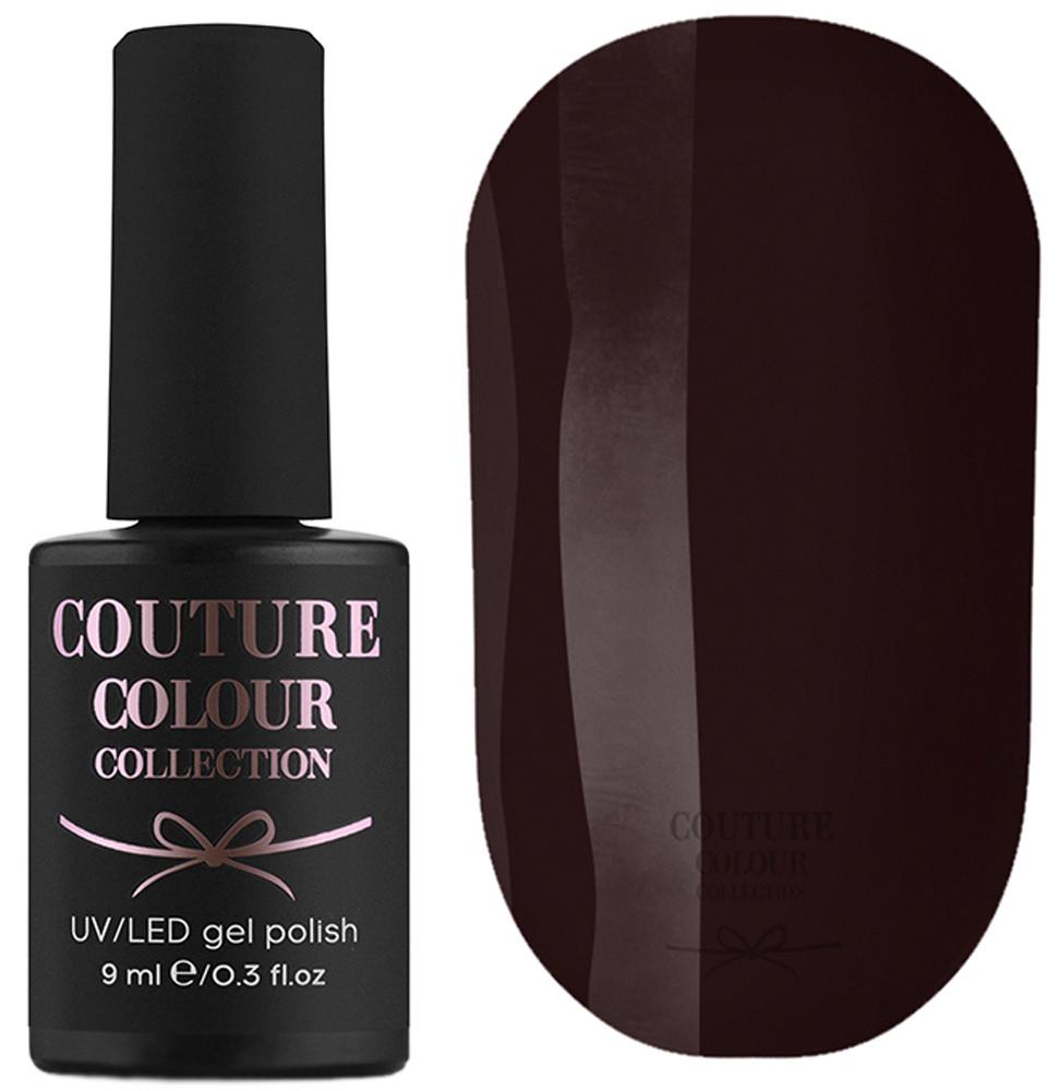 Гель-лак для ногтей Couture Colour №076 Плотный бордово-шоколадный (эмаль) 9 мл