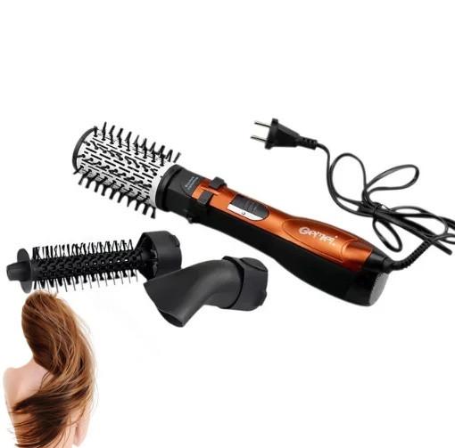 Вращающаяся воздушная щетка фен расческа Gemei GM4828- плойка для волос мультистайлер
