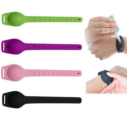 Браслет Sunroz Wristband Sanitizer для антисептика 10 мл ( в ассортименте), фото 2