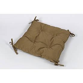 Подушка на стул Lotus 40*40*5 - Optima с завязками горчичный