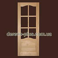 Двері міжкімнатні з масиву дерева80см (под стекло) s_1180