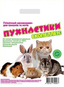 "Наповнювач деревне ""Пухнастики"" без аромату 5+1 кг для тварин"