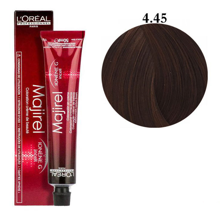 Крем-краска для волос L'Oreal Professionnel Majirel №4/45 Шатен медный красное дерево 50 мл