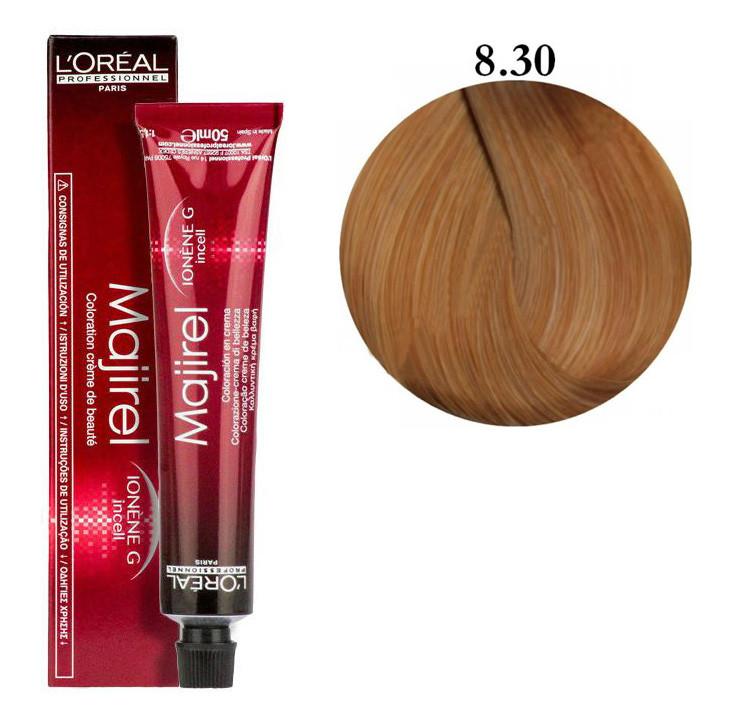Крем-краска для волос L'Oreal Professionnel Majirel №8/30 Светлый блондин золотистый 50 мл