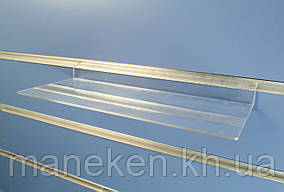 Полиця пряма глянцева з кріпленням на економ-панель