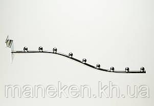 Флейта (кронштейн) с креплением на эконом-панель 9L30(C-129/2)Ф5,5 Хром, фото 2