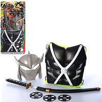 Набор ниндзя RZ1426 (18шт) щит, меч, маска, сюрикен 3шт, на листе, 31-66-4см
