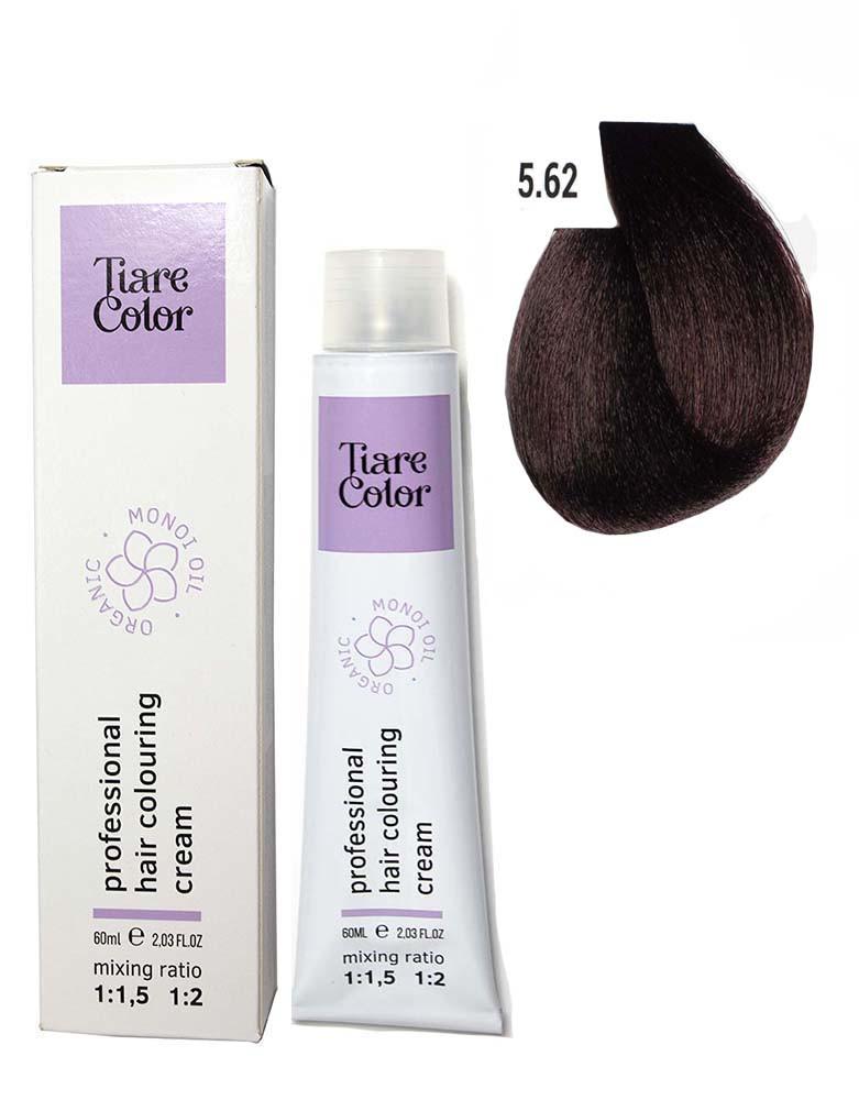 Крем - краска для волос 5.62 Tiare color 60 мл