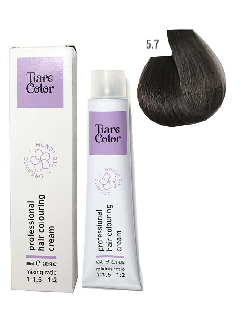 Крем - краска для волос 5.7 Tiare color 60 мл