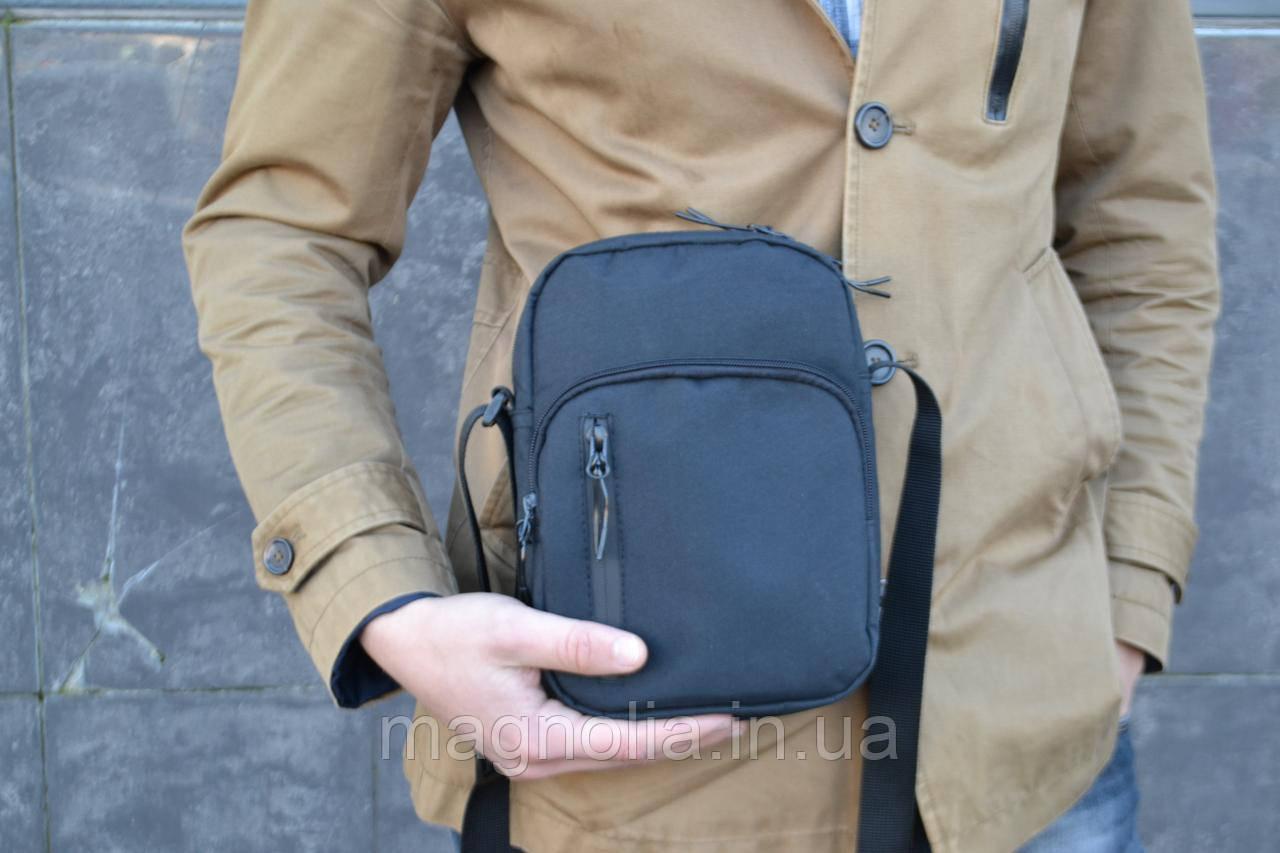 Мужская сумка мессенджер  ХІТ ПРОДААЖ мужская сумка через плечо / Сумка чоловіча чорна / Барсетка