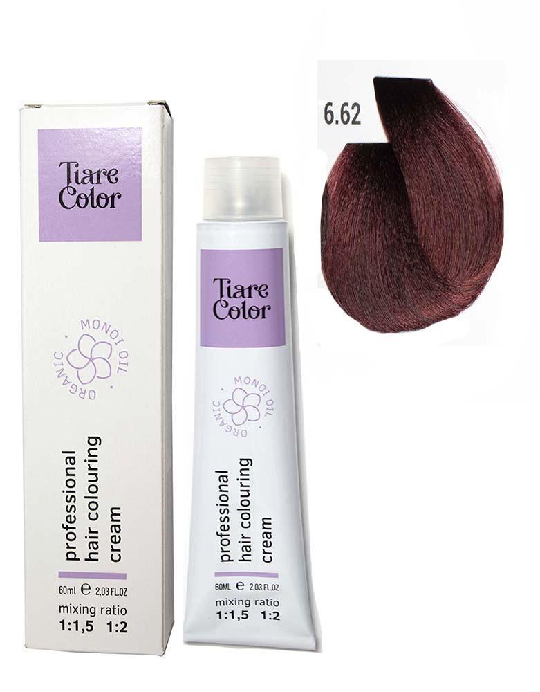 Крем - краска для волос 6.62 Tiare color 60 мл