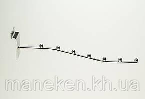 Флейта (кронштейн) с креплением на эконом-панель 7L35 Хром, фото 2