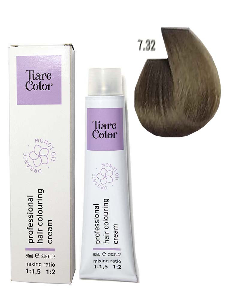 Крем - краска для волос 7.32 Tiare color 60 мл