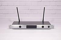 Радиосистема Shure UGX8 ІІ на 2 микрофона + дисплей (беспроводной караоке микрофон), фото 3