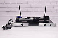 Радиосистема Shure UGX8 ІІ на 2 микрофона + дисплей (беспроводной караоке микрофон), фото 2