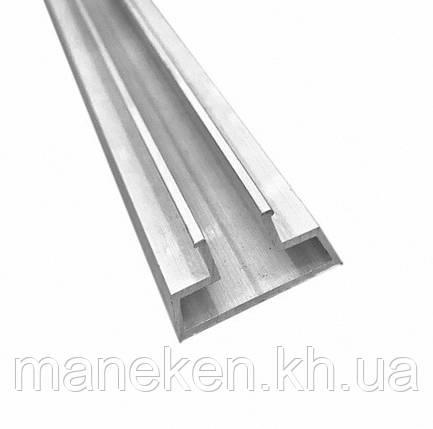 Вставка-профиль для эконом-панели симметричная L1,22m аллюминий, фото 2