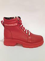 Женские зимние ботинки из натуральной кожи. Жіночі зимові чоботи., фото 1