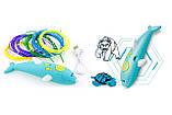 Бездротова 3D ручка у вигляді дельфіна (низькотемпературна 3д-ручки для дітей та дорослих) синя, фото 9