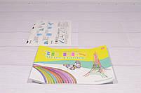 Аккумуляторная 3D ручка Wm- 9903 для детей с трафаретами и пластиком для рисования 3Д Pen дельфин синий, фото 6
