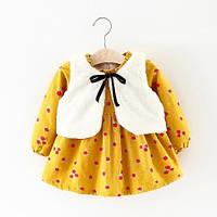 Чудовий набір жилетка+ плаття 80-100 розміри