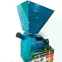 """Зернодробилка электрическая """"Master Kraft"""" 2.8 кВт. до 180кг/ч. Для зерна, перца, кукурузы. Увеличенный бункер, фото 1"""