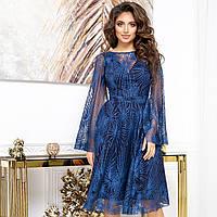 """Сукня блискуче синє коктейльне, вечірнє, випускне """"VERA"""""""
