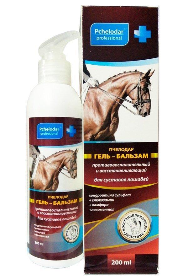 Гель-бальзам противовоспалительный и восстанавливающий для суставов лошадей, 200 мл, Пчелодар