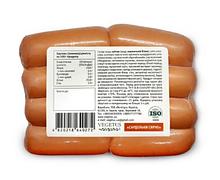 Сейтан ковбасний «Сардельки сирні», Vegetus, 500г.