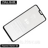 Защитное стекло Full Glue Huawei Honor 8X (Black) - 5D Полная поклейка, фото 1