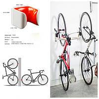 Крепление шоссейного велосипеда за колесо к стене, 23-32mm, бело-красное