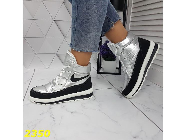 Дутики ботинки термоботинки зимние серебро 38, 39, 40 (2350)