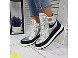 Дутики ботинки термоботинки зимние серебро 38, 39, 40 (2350), фото 2