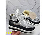 Дутики ботинки термоботинки зимние серебро 38, 39, 40 (2350), фото 5