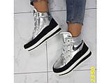 Дутики ботинки термоботинки зимние серебро 38, 39, 40 (2350), фото 6