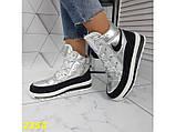 Дутики ботинки термоботинки зимние серебро 38, 39, 40 (2350), фото 8