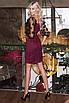 Нарядное замшевое платье Марсала, фото 3