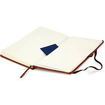 Блокнот на резинке А5 Axent Partner Lux 8202 (96 листов) кремовая бумага, обложка твердая, коричневый, фото 3