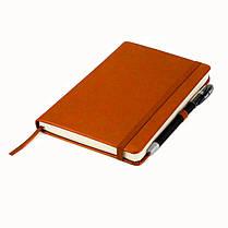 Блокнот на резинке А5 Axent Partner Lux 8202 (96 листов) кремовая бумага, обложка твердая, коричневый, фото 2