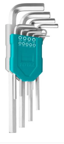 Набор ключей шестигранных Total 1.5-10 мм 9 шт