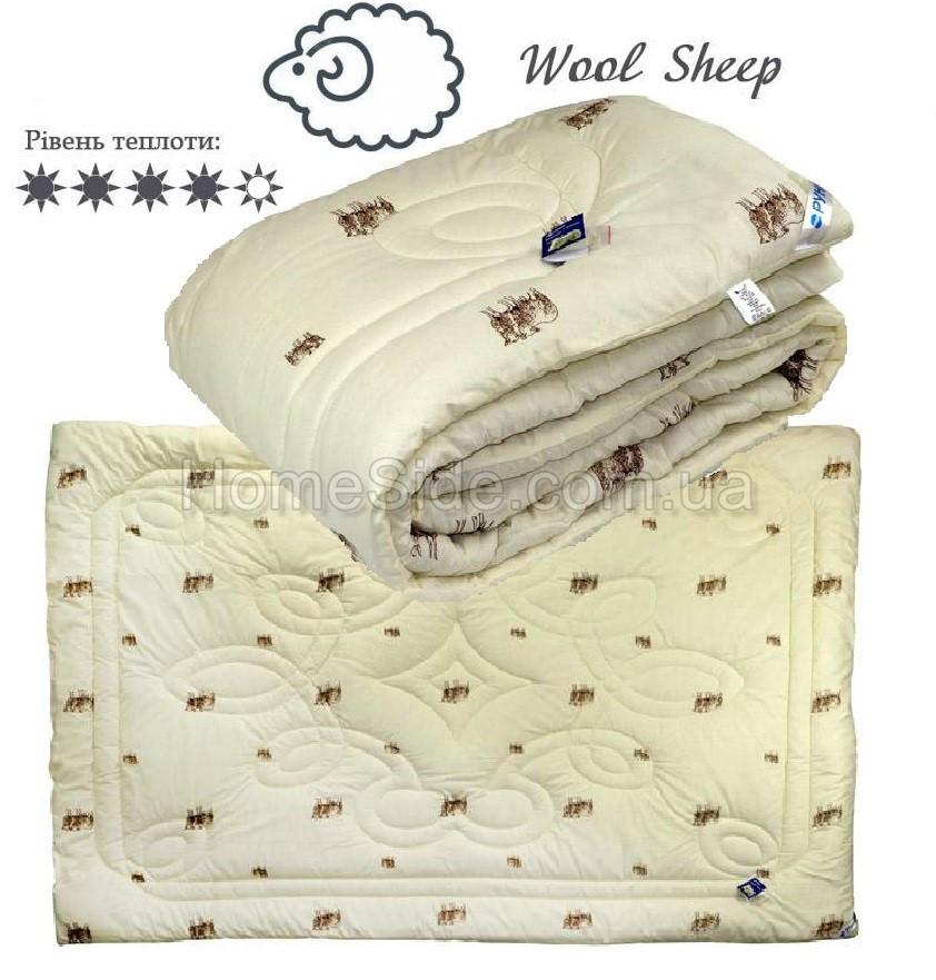 Одеяло зимнее шерстяное 172х205 двуспальное Wool Sheepl Комфорт Плюс 300г/м2 316.02ШК+У_SHEEP