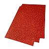 Фоамиран 2мм глиттерный 20х30 см красный 1902