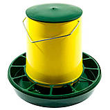 Бункерная кормушка на 6,2 л / 4,2 кг с ручкой для бройлеров кур несушек, уток, гусей, индюков, перепелов, фото 2