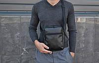 Мужская сумка мессенджер XL / мужская сумка через плечо / Сумка чоловіча чорна / Барсетка, фото 1