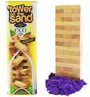 Настольная игра Дженга на кинетическом песке Danko Toys 7899 DT